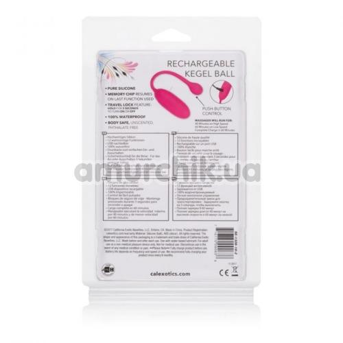 Виброяйцо Rechargeable Kegel Ball, розовое