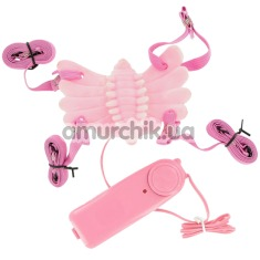 Вибратор-бабочка Butterfly Massager, розовый - Фото №1