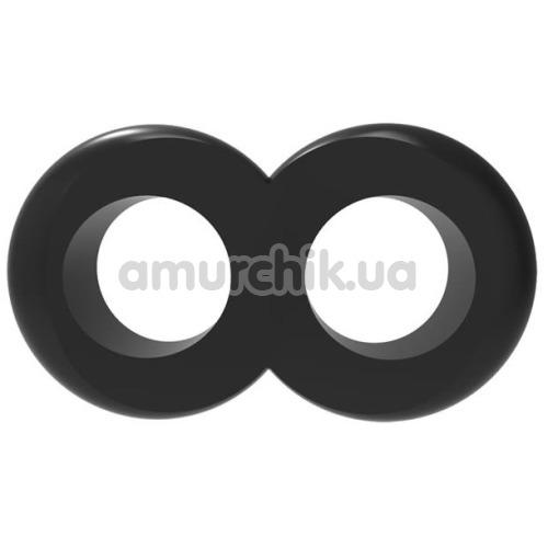 Эрекционное кольцо Get Lock Duo Cock 8 Ball Ring, черное