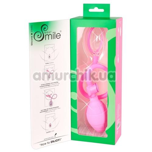 Вакуумная помпа для вагины Sweet Smile Labia Sucker, розовая