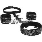 Бондажный набор Steamy Shades Neck & Wriststraints, чёрный