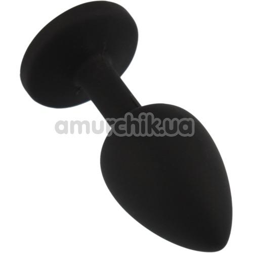 Анальная пробка с салатовым кристаллом SWAROVSKI Zcz, черная