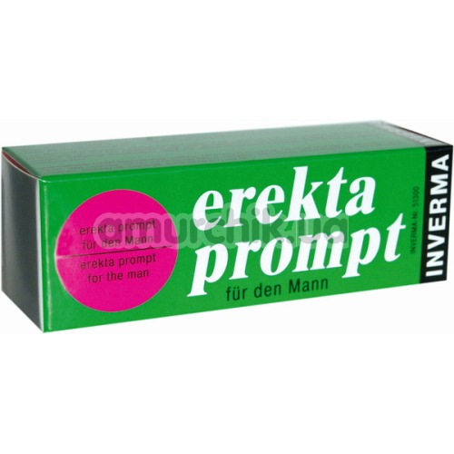 Стимулирующий крем Erekta Prompt для мужчин - Фото №1