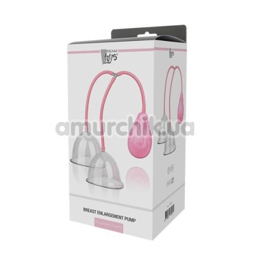 Вакуумная помпа для груди Breast Enlargement Pump, розовая