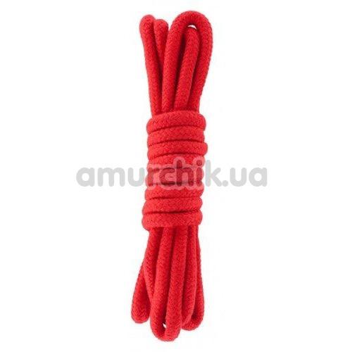 Веревка sLash Bondage Rope Red 3м, красная - Фото №1