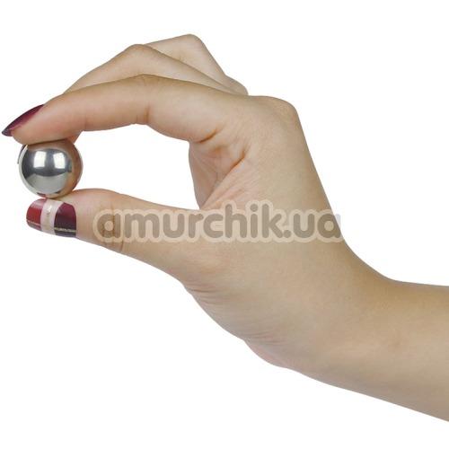 Вагинальные шарики Lovetoy Passion Ball, серебряные