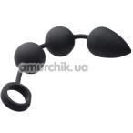 Анальные шарики Tom of Finland Weighted Anal Ball Plug, черные - Фото №1