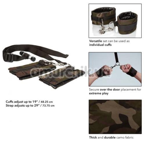 Фиксаторы для рук Colt Camo Over The Door Cuffs, хаки