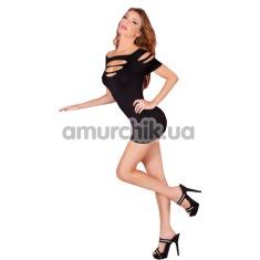 Платье Cut It Out Seamless Mini-Dress, черное - Фото №1