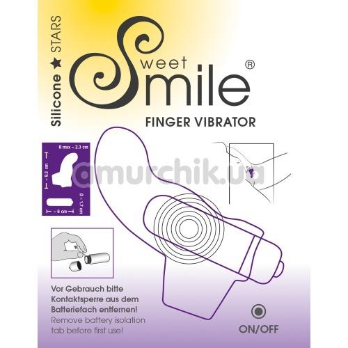 Вибронапалечник Sweet Smile Finger Vibrator, фиолетовый