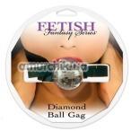 Кляп Diamond Ball Gag, прозрачный - Фото №1