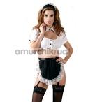 Костюм горничной Cottelli Collection Costumes 2470292, черно-белый - Фото №1