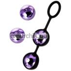 Вагинальные шарики A-Toys Pleasure Balls Set, фиолетовые - Фото №1