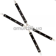 Ремешки для фиксаторов sLash Leather Fixer Large Slave, черные - Фото №1