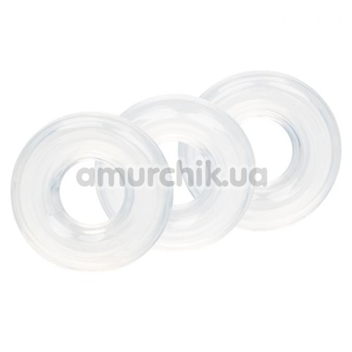 Набор эрекционных колец Silicone Set Of 3 Stacker Rings, прозрачный - Фото №1