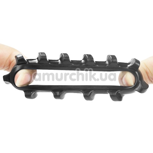 Эрекционное кольцо Power Plus Cock Ring Series LV1432, черное