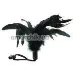 Перышко для ласк Pleasure Feather Body Tickler, черное - Фото №1