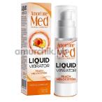 Лубрикант с эффектом вибрации Amoreane Med Liquid Vibrator Peach - персик, 30 мл - Фото №1