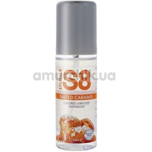 Оральный лубрикант Stimul8 Flavored Lube - соленая карамель, 125 мл