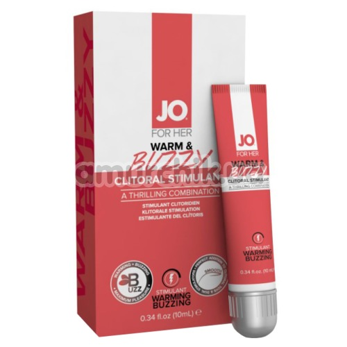 Гель для стимуляции клитора JO Clitoral Gel - Warm & Buzzy, 10 мл