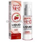 Лубрикант с эффектом вибрации Amoreane Med Liquid Vibrator Cherry - вишня, 30 мл - Фото №1