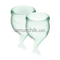 Набор из 2 менструальных чаш Satisfyer Feel Secure, светло-зеленый - Фото №1