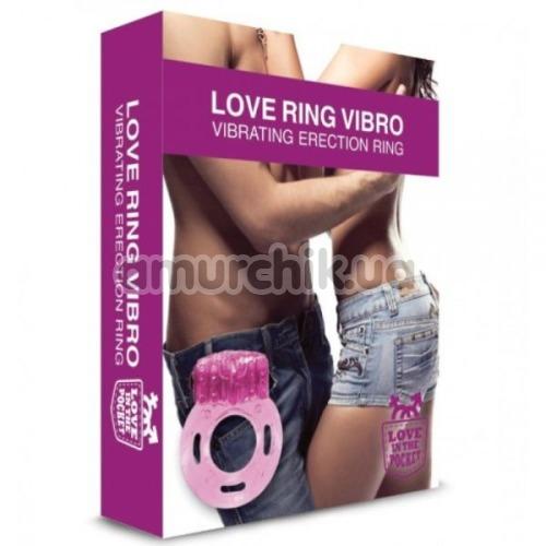 Виброкольцо Loveshop Love Ring Vibro, розовое