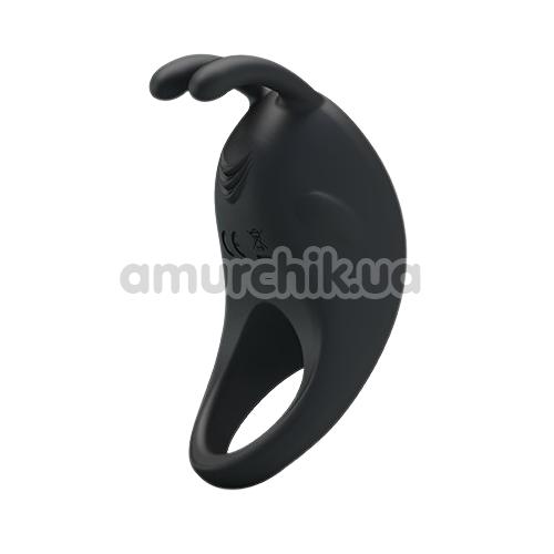 Виброкольцо Pretty Love Rabbit Vibrator, черное - Фото №1
