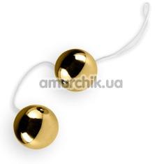 Вагинальные шарики Vibratone Unisex Duo Balls золотые - Фото №1