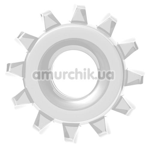 Эрекционное кольцо Power Plus Cock Ring Series LV1432, прозрачное - Фото №1
