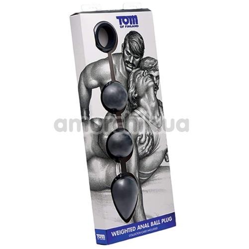 Анальные шарики Tom of Finland Weighted Anal Ball Plug, черные