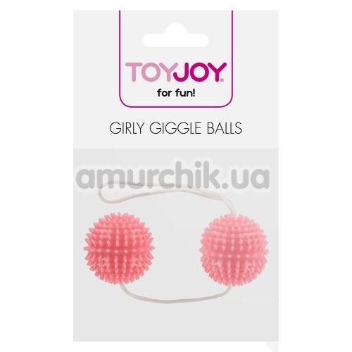 Вагинальные шарики Girly Giggle Balls, светло-розовые