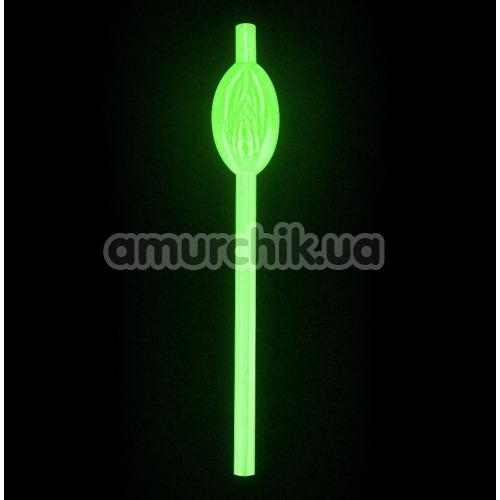 Трубочки для напитков LoveToy Jokes&Parties Glow In The Dark Willy Pussy Straws, светящиеся в темноте 9 шт