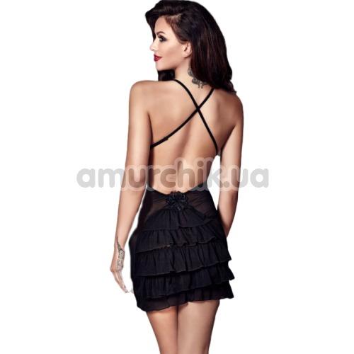 Комплект Anais Nala чёрный: пеньюар + трусики-стринги