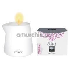 Массажная свеча Shiatsu Massage Candle Raspberry & Vanilla Cream - малина и ванильный крем, 130 мл - Фото №1