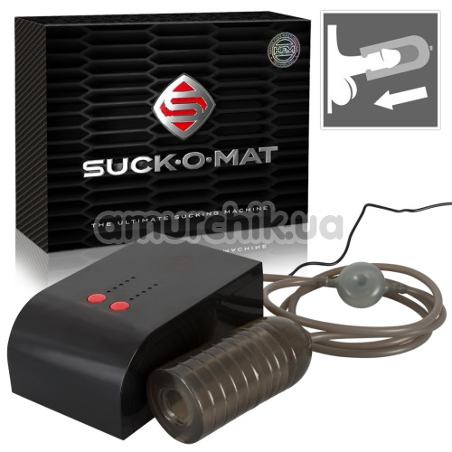 Секс-машина для мужчин Suck-O-Mat, черная