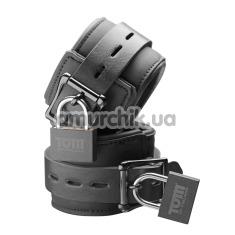 Фиксаторы для рук Tom of Finland Neoprene Wrist Cuffs, черные - Фото №1