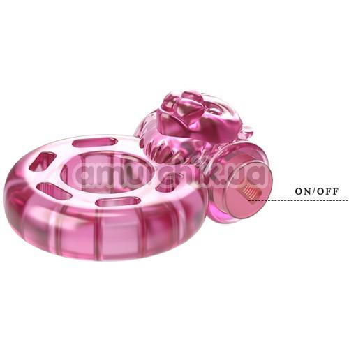 Виброкольцо Vibration ring Bear Pink, розовое