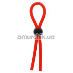 Эрекционное кольцо Dream Toys Lit-Up Rings Stretchy Lasso, красное - Фото №1
