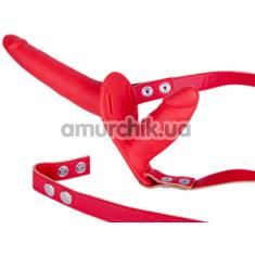 Двойной страпон Sex Companion Dual Climax, красный - Фото №1