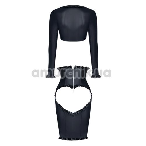 Костюм Demoniq Kerstin чёрный: блуза + юбка + трусики-стринги