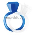 Набор из 2 эрекционных колец GK Power Diamond Cock Ring, бело-синий - Фото №1