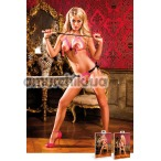 Комплект Pink-Black Show Me Lace Bikini Set: бюстгальтер + трусики-стринги (модель B108) - Фото №1