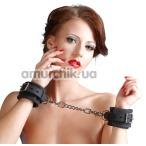 Наручники Bad Kitty Naughty Toys Cuffs Silicone, чёрные - Фото №1