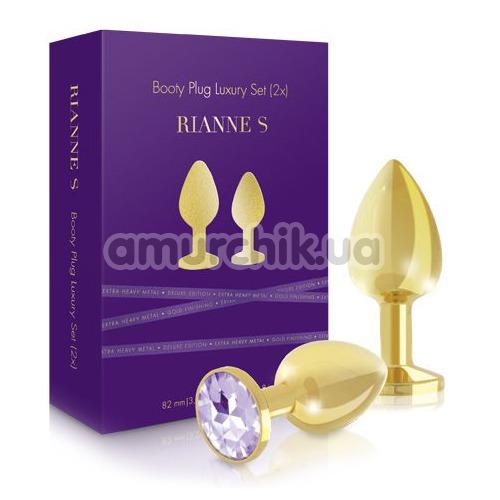 Набор из 2 анальных пробок Rianne S Booty Plug Luxury Set (2х), золотой