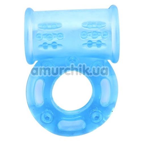 Виброкольцо Get Lock Vibrating Bull Ring, голубое