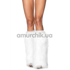 Гетры Furry Lurex Leg Warmers, белые - Фото №1