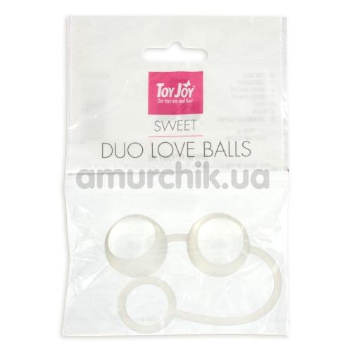 Вагинальные шарики Sweet Duo Love Balls, белые