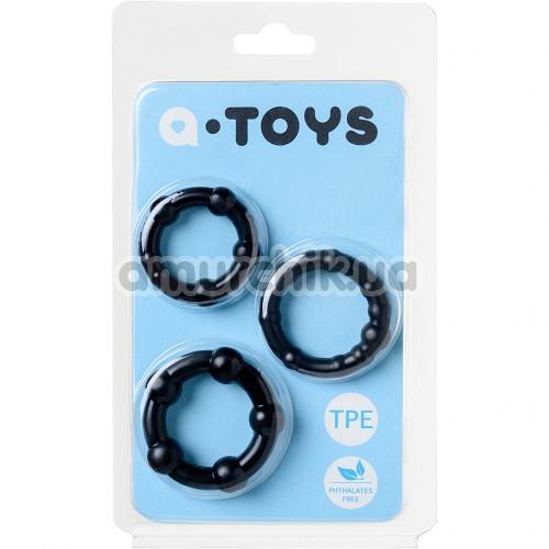 Набор из 3 эрекционных колец A-Toys 769004, черный