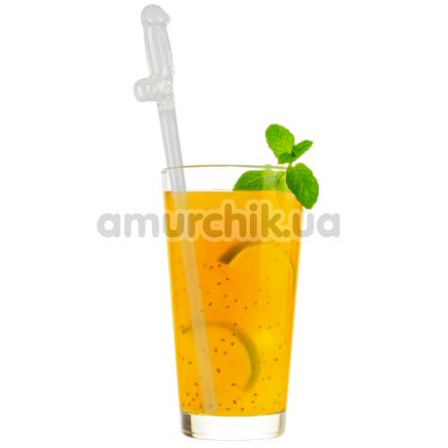 Трубочки для напитков Glass Drinking Straw Willy, прозрачные 4 шт